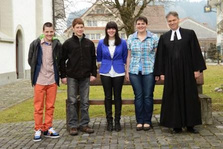 Roland Müller, Walter Knöpfel, Karin Grob, Veronika Frischknecht